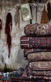 نمایی از قالیشویی فرش ماشینی