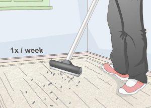 استفاده از جاروبرقی برای تمیز نگه داشتن فرش
