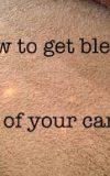 پاک کردن لکه مایع سفید کننده از روی فرش